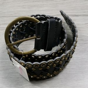 Forever 21 Wide Black Belt sz Medium